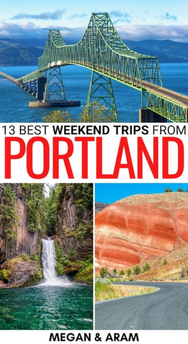 Are you looking for the best weekend trips from Portland? These amazing Portland weekend getaways have you covered! Click to learn more (map included). | Portland things to do | Weekend getaways from Portland | Places to visit near Portland | Portland OR things to do | Portland weekend trips | Things to do in Portland | Day trips from Portland | Portland attractions | Places to visit in Oregon | Places to visit in PNW | Oregon itinerary | What to do in Portland