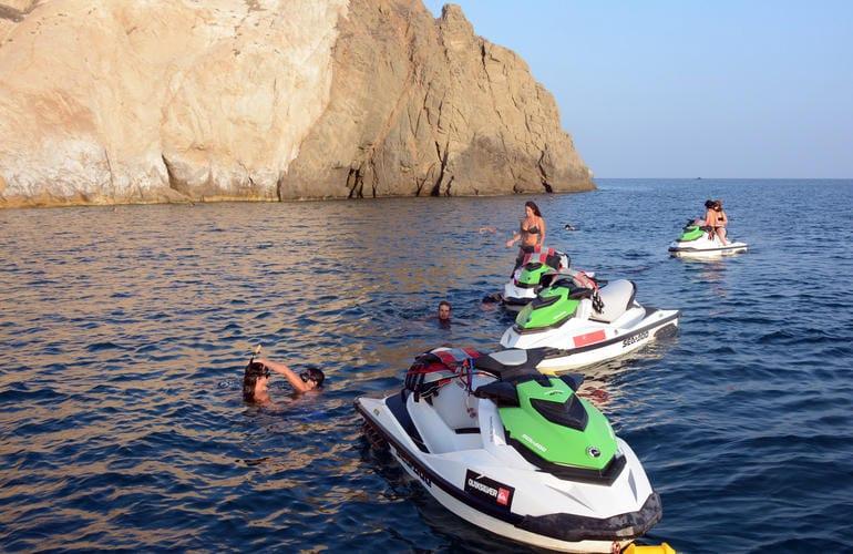 Jetskiing in Santorini