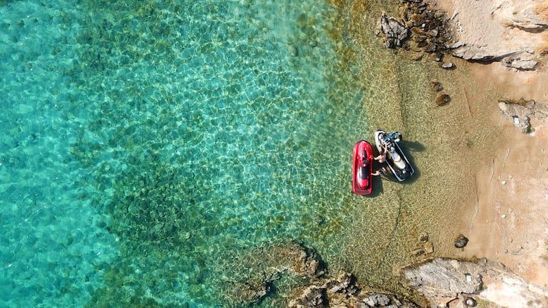 Santorini jet ski tour guide