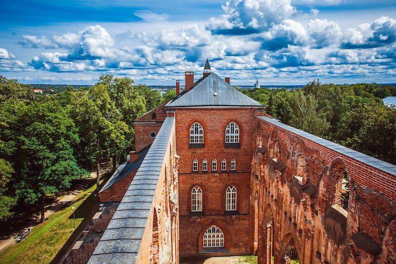 Cathedral ruins in Tartu