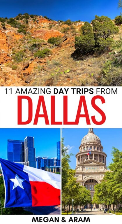 Looking for the best day trips from Dallas? This Dallas day trips guide gives you a list of fantastic and diverse places to visit near Dallas! Learn more!   Weekend trips from Dallas   Weekend getaways from Dallas   Fort Worth day trip   Oklahoma day trip   Austin day trip   Things to do in Dallas   What to do in Dallas   Dallas attractions   Places near Dallas   Cities in Texas   Small towns in Texas   Dallas landmarks   Dallas weekend trips   Texas itinerary