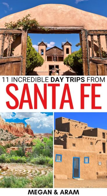 Are you heading to New Mexico soon and curious about the best day trips from Santa Fe? These amazing Santa Fe day trips have you covered! Learn more here! | Weekend trips from Santa Fe | Santa Fe things to do | Santa Fe hiking | Hiking trails Santa Fe | Day trip to Taos | Places to visit in Santa Fe | What to do in Santa Fe | Visit New Mexico | Day trips in New Mexico | Weekend getaways in New Mexico