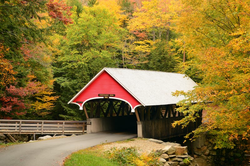 Franconia Notch State Park in New Hampshire