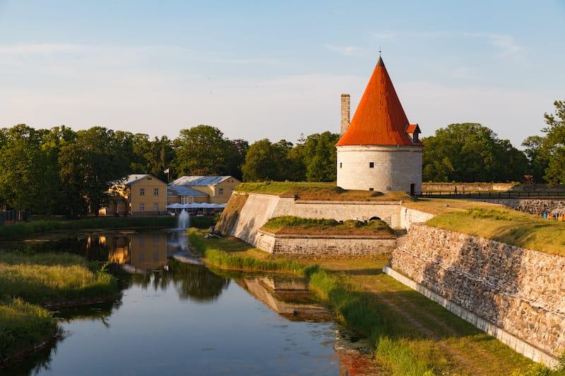 Kuressaare Castle in Saaremaa, Estonia