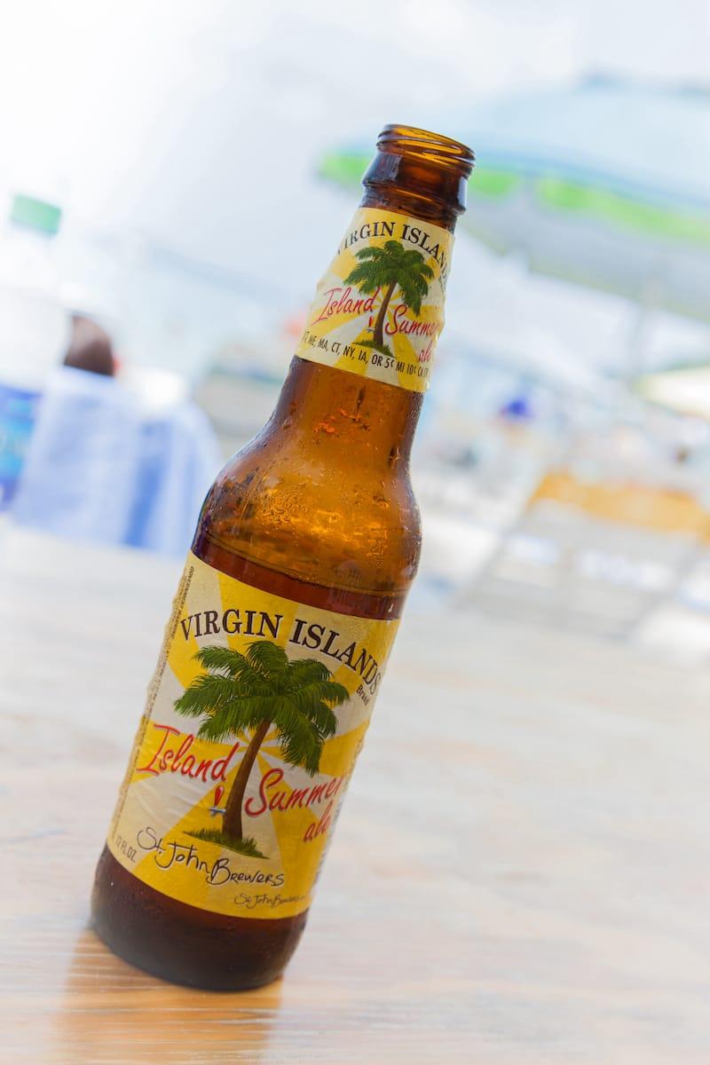 Local craft beer on St John