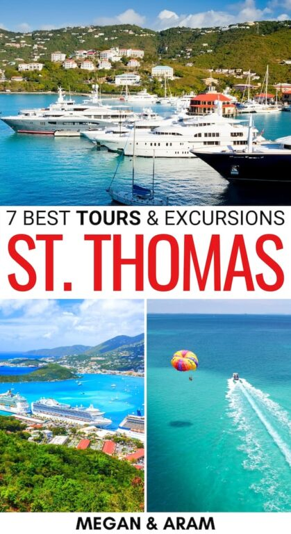 Looking for the best way to maximize your time on St. Thomas? This guide includes the best St. Thomas tours and excursions for your trip! Learn more! | St. Thomas excursions | What to do in St. Thomas | What to do in the Virgin Islands | Things to do in St. Thomas | Snorkeling in St. Thomas | St. Thomas activities | Tours in St. Thomas | St. Thomas things to do | Boat tours St. Thomas | Kayaking in St. Thomas | Cruises in St. Thomas | St. Thomas adventures