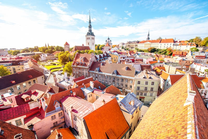 View of Tallinn from Toompea Hill