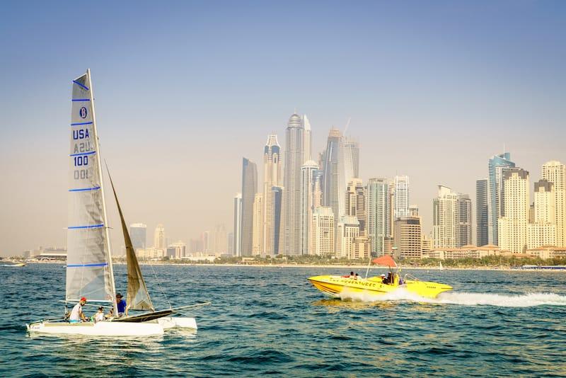 Yellow Boat at Dubai Marina - Alexey Stiop - Shutterstock.com