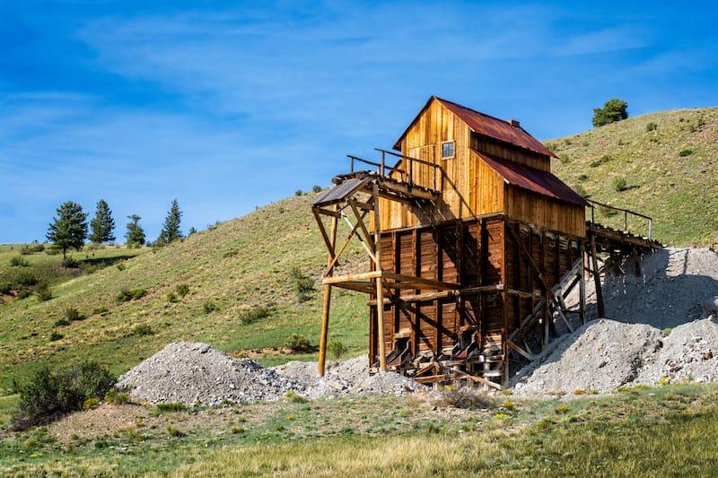 Abandoned mine in Creede, Colorado