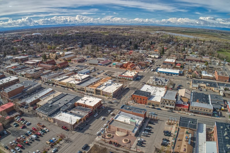 Aerial view of Alamosa