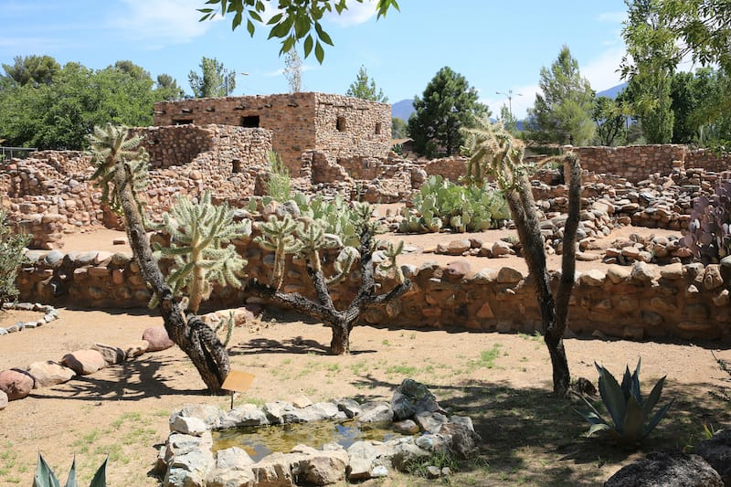 Besh-Ba-Gowah ruins in the city of Globe, Arizona