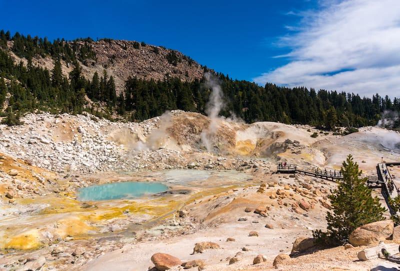 Bumpass hell at lassen volcanic national park