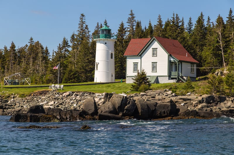 Little River Lighthouse in Cutler ME