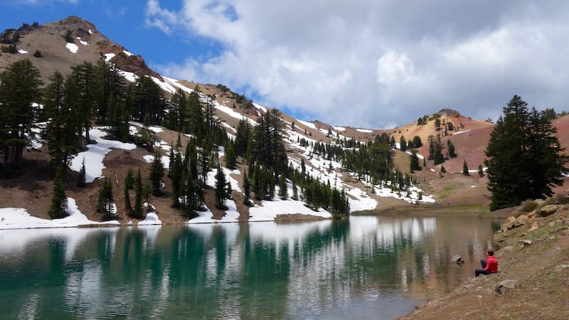 Ridge Lake in Lassen Volcanic National Park