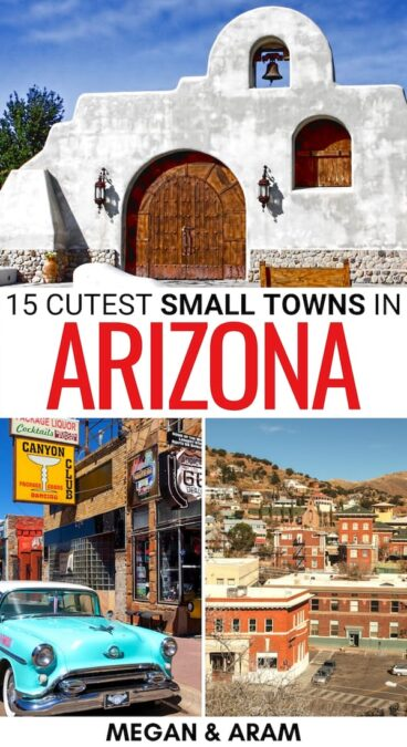 Looking to escape the hustle of the big cities? These are the best small towns in Arizona that will help you do just that, including reasons to visit each!   Arizona small towns   Places to visit in Arizona   Things to do in Arizona   Arizona cities   Arizona ghost towns   Travel to Arizona   Small towns in AZ   AZ places to visit