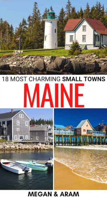 If you're looking to visit some of the best small towns in Maine, we have you covered! From small Maine coastal towns to mountain villages, these are the best! | Places to visit in Maine | Small towns in ME Maine small towns | Maine itinerary | Main coastal towns | Seaside towns in Maine | Travel to Maine | Things to do in Maine | Small towns in New England | New England small towns