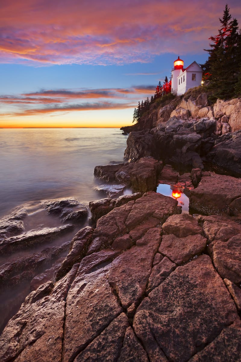 Bass Harbor Head Lighthouse in ME