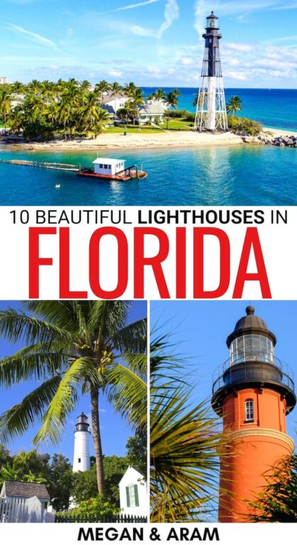 Curious to know more about the best lighthouses in Florida and how you can visit each? This Florida lighthouses guide showcase a variety, including nearby attractions. | FL lighthouses | Lighthouses in FL | Things to do in Florida | Places to visit in Florida | Florida beaches | Southern Florida beaches | Pensacola lighthouse | Key West lighthouse | Key Biscayne | Florida itinerary