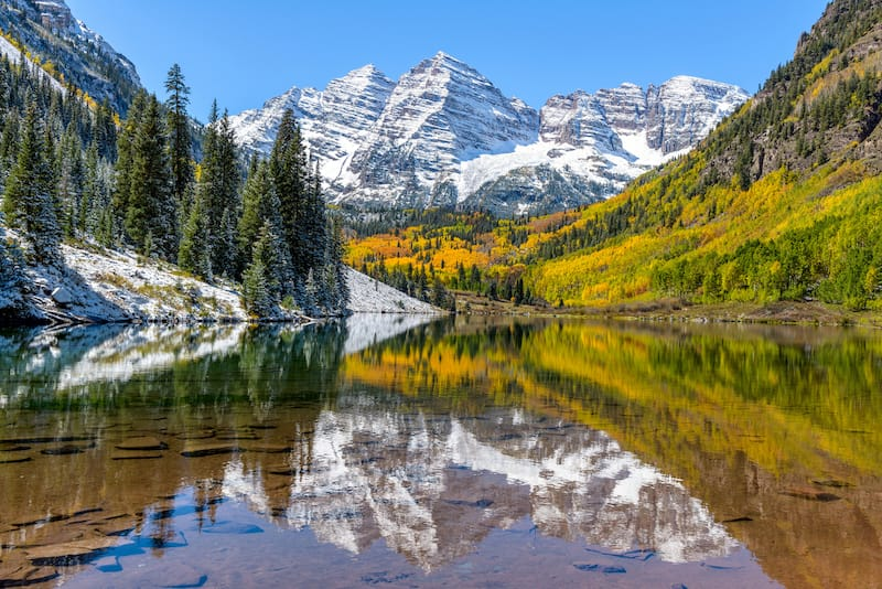 Maroon Bells in White River National Forest