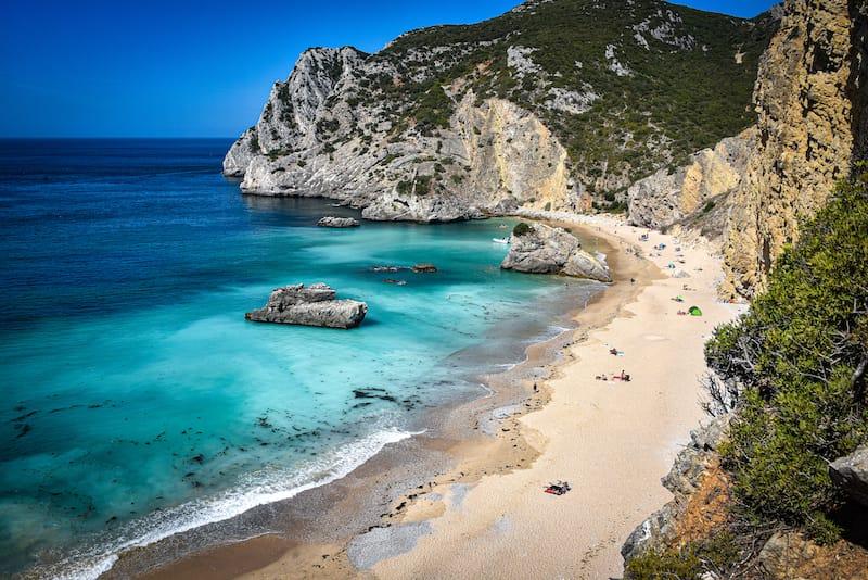 Praia Ribeira do Cavalo, a hidden beach near the town of Sesimbra