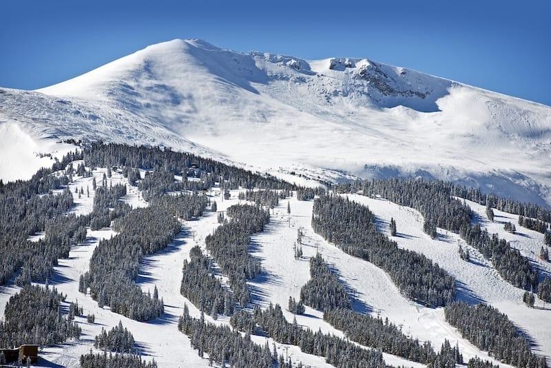 Ski slopes in Breckenridge