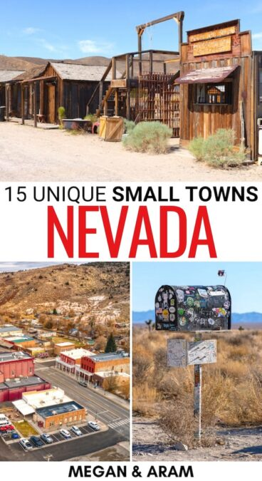 Looking for the best small towns in Nevada? We have you covered! From abandoned ghost towns to mountainous villages, these are the best Nevada small towns. | Places to visit in Nevada | Things to do in Nevada | Nevada ghost towns | Ghost towns in Nevada | What to do in Nevada | Cities in Nevada | Towns in Nevada | NV small towns | Small towns in NV | Nevada itinerary | Nevada road trip | Nevada bucket list