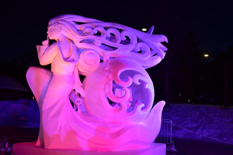Snow sculpture by team Mongolia - Ganeshkumar Durai - Shutterstock.com