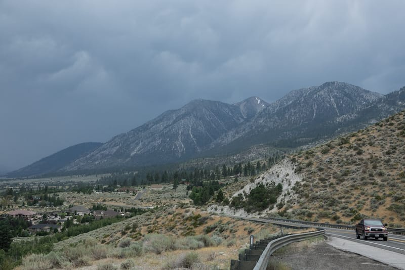 Stormy weather in Genoa, Nevada