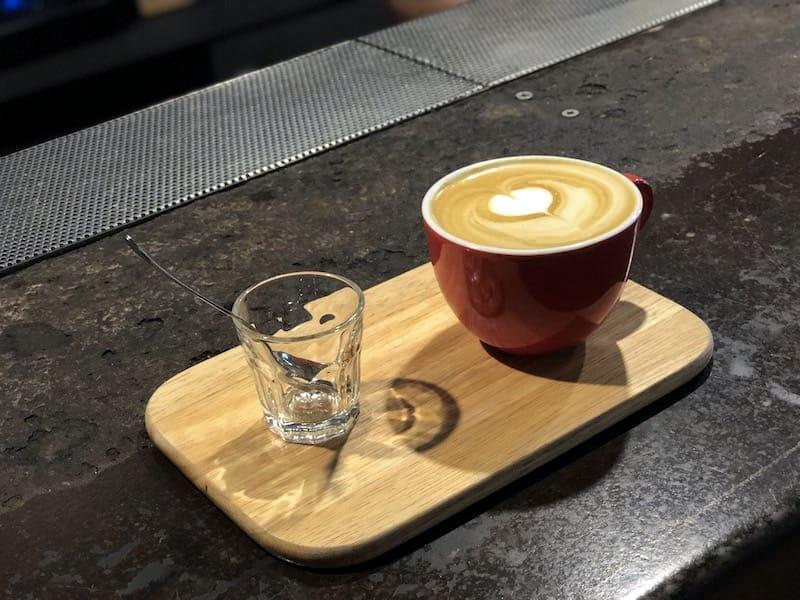 Flat white at Origo Coffee