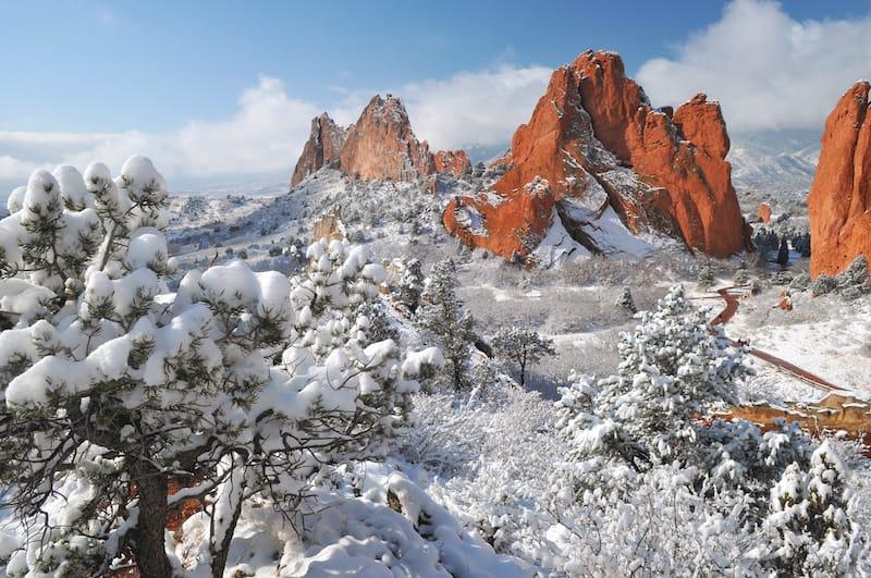Garden of the Gods in Winter