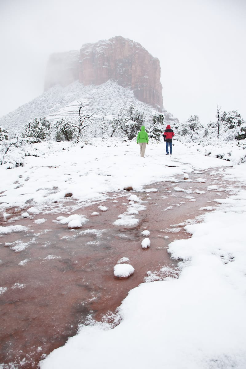 Cathedral Rock in winter
