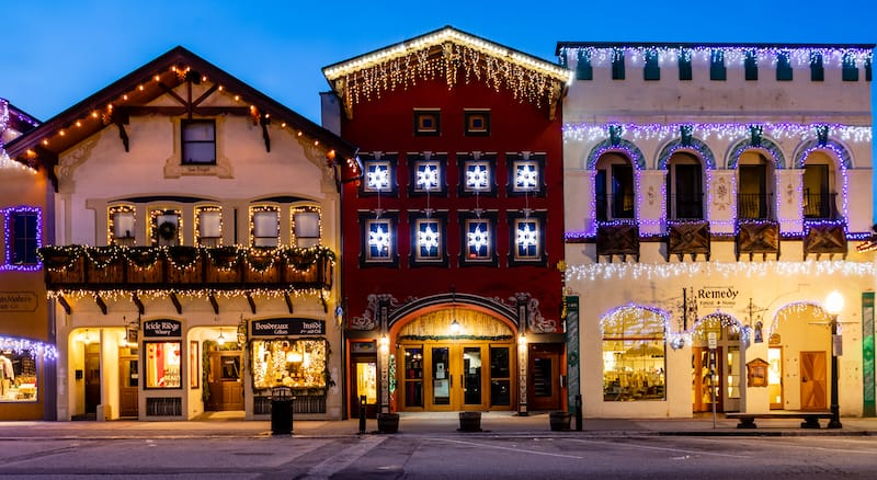 Christmas time in Leavenworth - Mark A Lee - Shutterstock.com