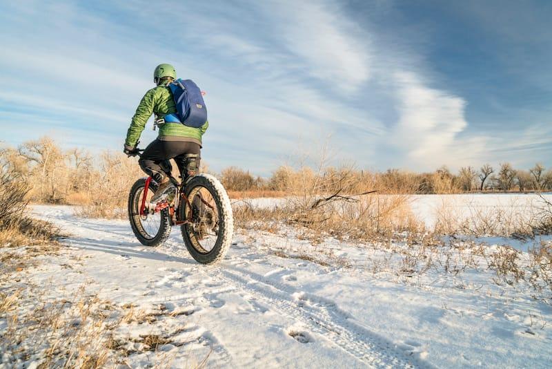 Fat biking in Colorado in winter