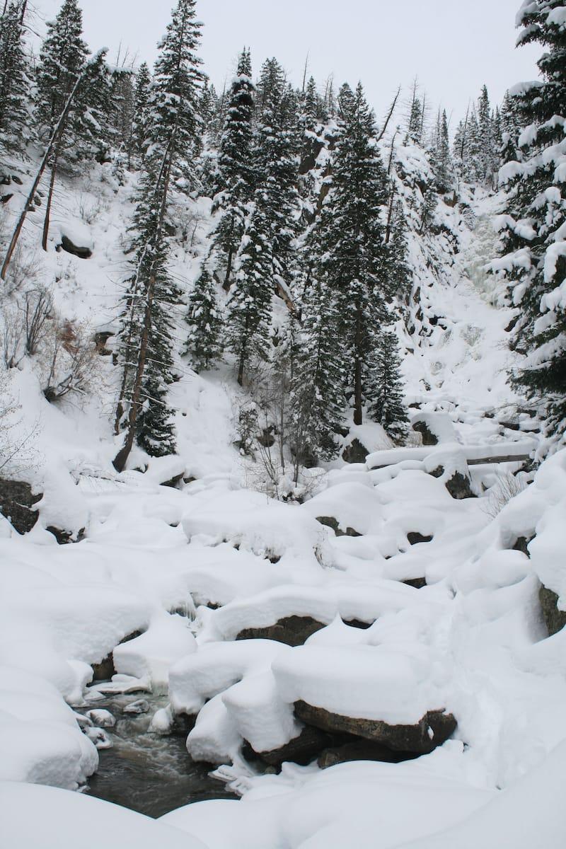 Fish Creek Falls in winter