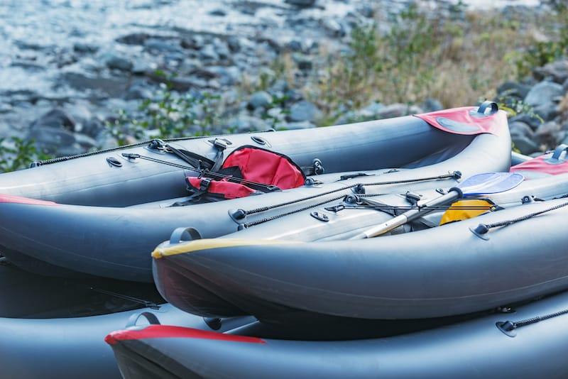 Inflatable kayaking in Sedona