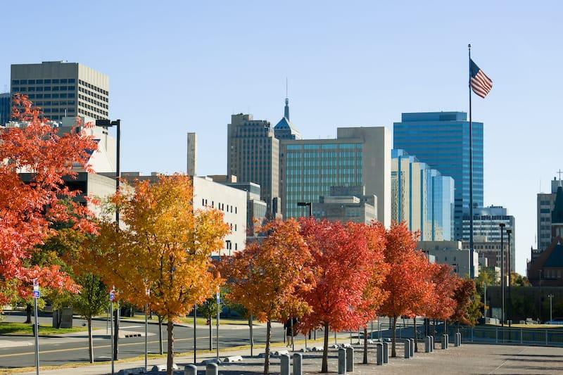 Oklahoma City in October