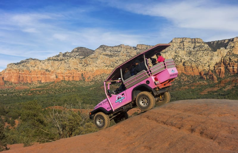 Pink Jeep Tour in Sedona in December - Autumn Sky Photography - Shutterstock.com