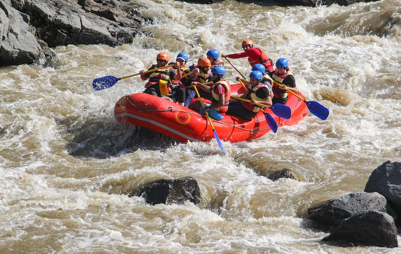 Rafting in Armenia on the Debed River