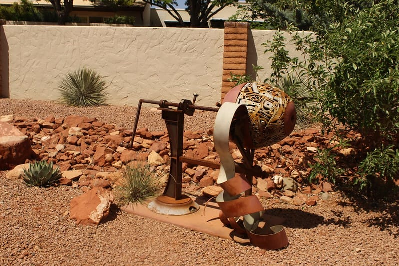 Sculpture near Sedona Heritage Museum via C. Riggle (Flickr CC BY-NC-ND 2.0)