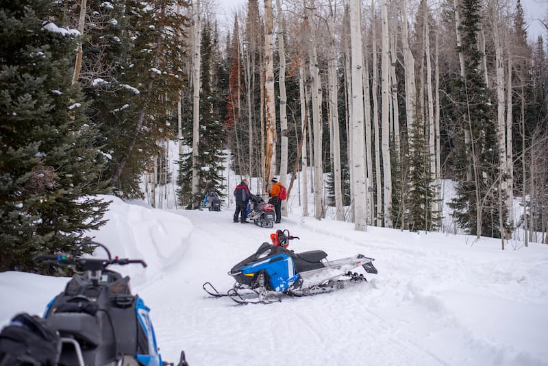Snowmobiling in Steamboat
