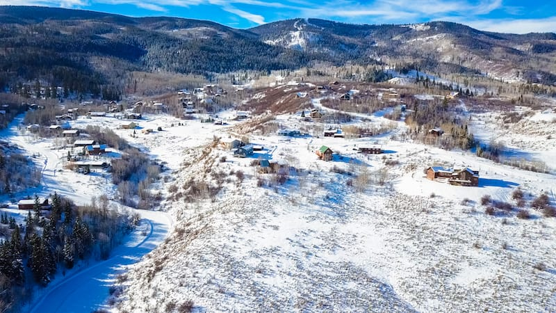 Steamboat Springs from above