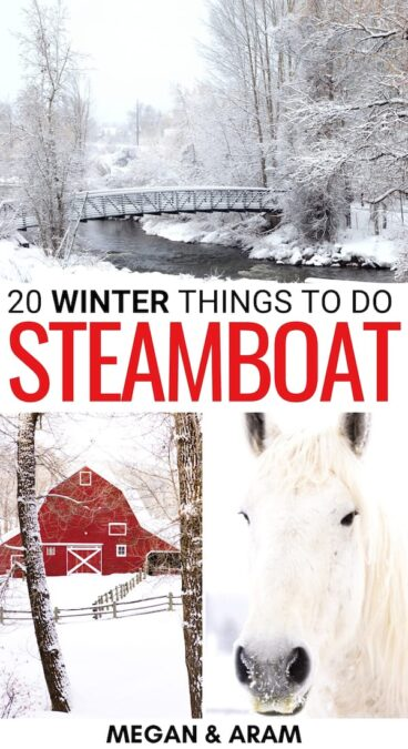 Planning a trip to Steamboat Springs in winter? This guide lays it all out for you - from things to do to festivals, and more! Click to learn more!   Winter in Steamboat Springs   Visit Steamboat Springs   Steamboat skiing   Skiing in Steamboat Springs   Snowboarding in Steamboat Springs   Hiking Steamboat Springs   Steamboat Springs weekend trip   Steamboat Springs day trip   Steamboat Springs winter getaway   Steamboat Itinerary   Steamboat in December