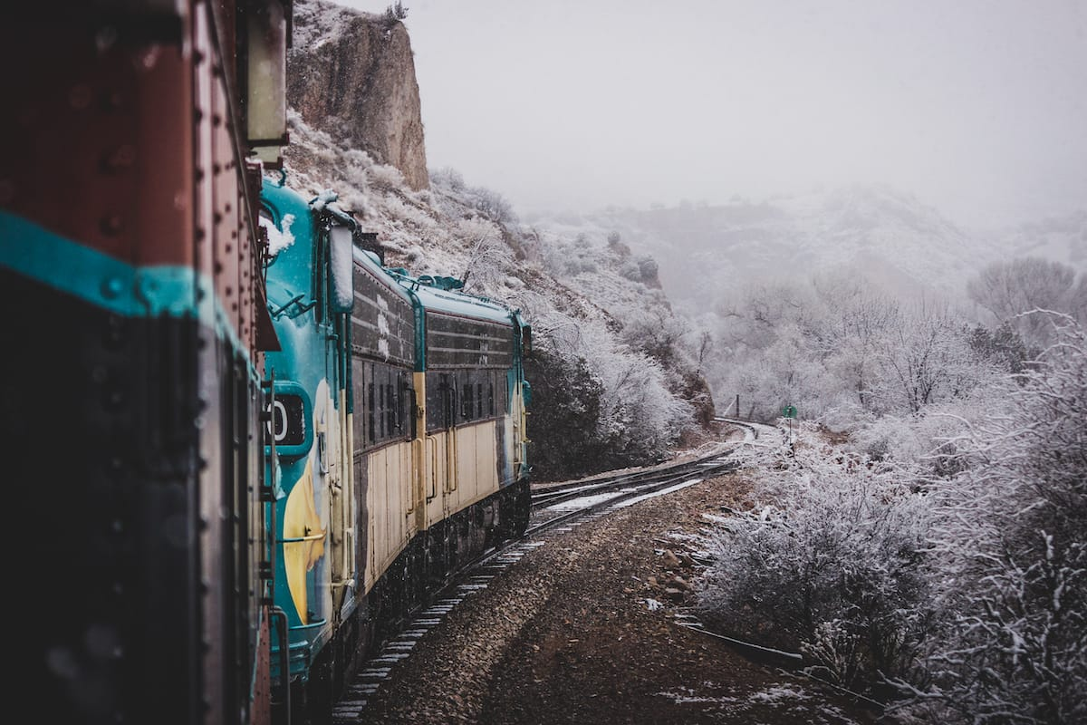 Verde Canyon Railroad in winter