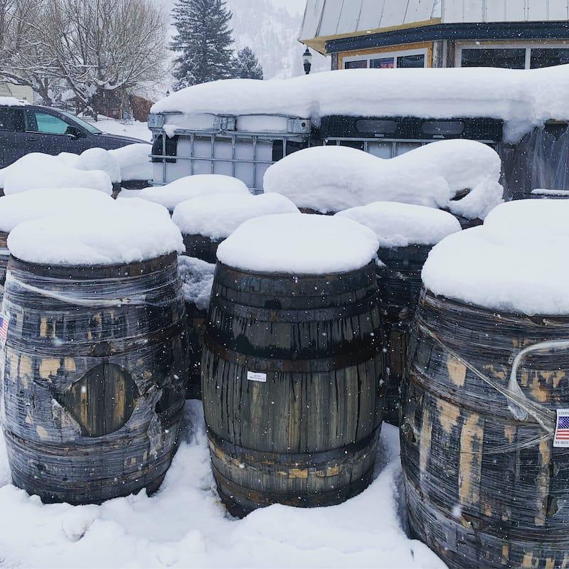 Whiskey barrels in Steamboat