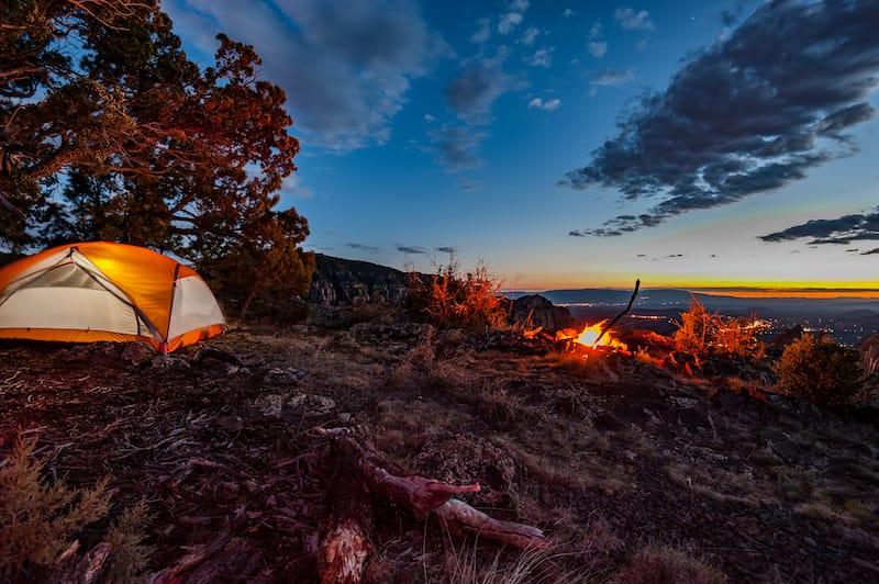 Winter camping in Sedona
