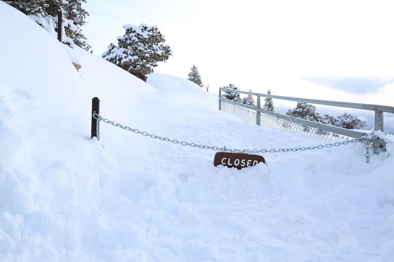 Winter closures in BCNP