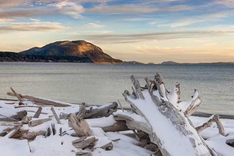San Juan Islands in winter