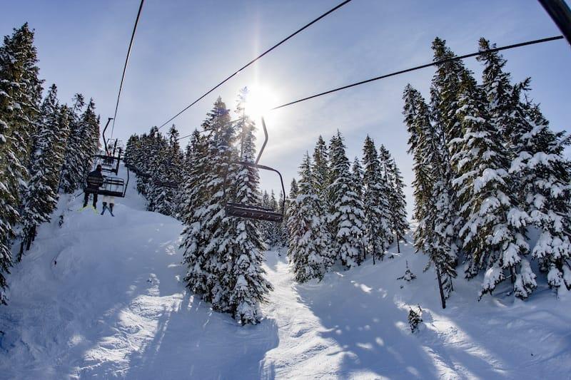 Stevens Pass in winter