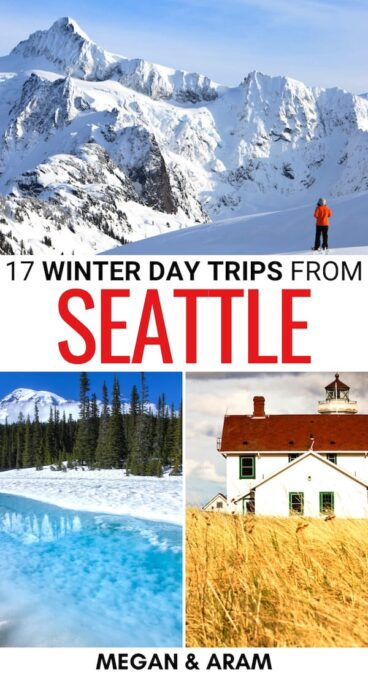 Are you looking for the best day trips from Seattle in winter? We have you covered - this diverse array of Seattle winter day trips takes you to parks and beyond!   Seattle day trips   Seattle in winter   Winter in Seattle   Winter in Washington state   Washington state in winter   Things to do in Seattle in winter   Seattle weekend trips   Places to visit in Seattle during winter   Visit Seattle in winter   Seattle in December   Seattle in January   Seattle in February   Skiing near Seattle
